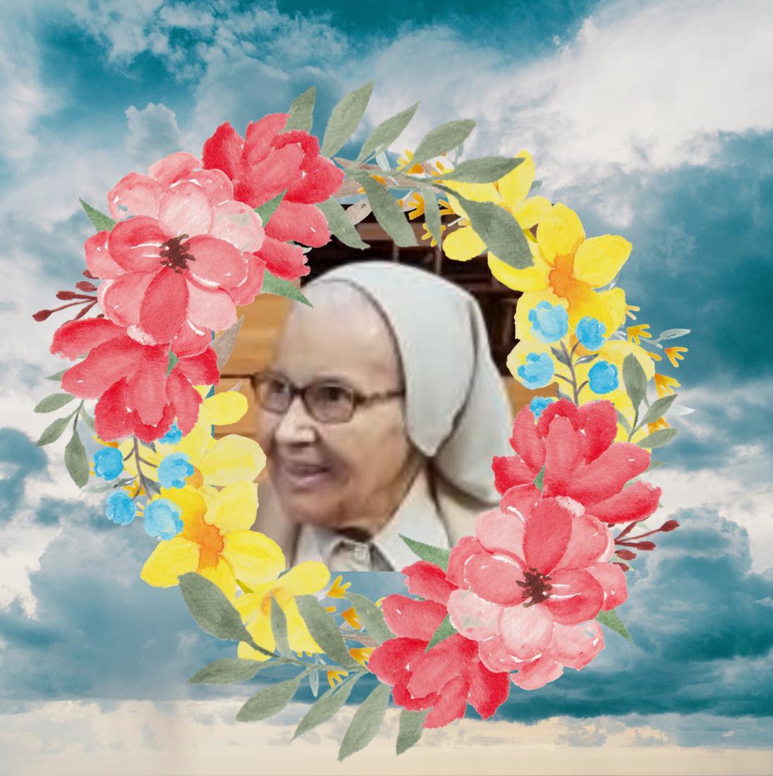 SOR GLORIA DA ROCHA GOMES, naciendo en el jardín de Dios 🌼
